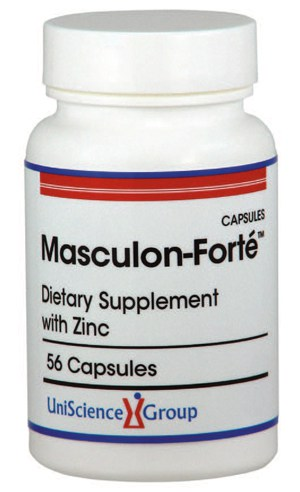 Testosterone boosting dietary supplement Masculon Forte
