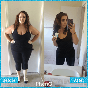 before and after results with PhenQ